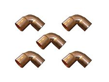 "Lot of 5 Copper Fitting CXC Elbow Sweat 90° Degree 1/2"" - 3/4"" - 1"""