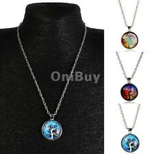 Vintage Tree of Life Charm Pendant Chain Choker Necklace Fashion Jewelry Gift