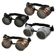 Vintage Victorian Steampunk Goggles Glasses Welding Cyber Punk Gothic Cosplay GO