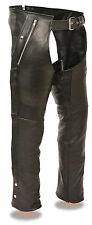 Men's Naked Leather Chap w/ Removable Thermal Liner, Thigh Stretch and 4 Pockets