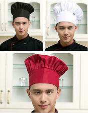Men Hat Adjustable Catering Cook Baker Kitchen Chef Hot Cap Elastic
