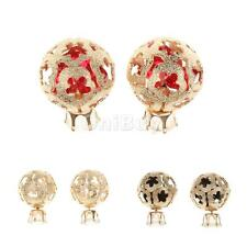 Hot Fashion Charm Hollow Plum Blossom Ball Rhinestone Earring Ear Stud Jewelry