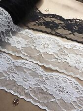 VINTAGE Ivory White LACE RIBBON trim 50mm BRIDAL Classic decor Invitations card