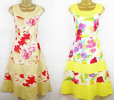 Caramel Red Yellow Pink White 1950's Vintage Style Tea Dress Sundress