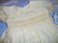 nwt Remember Nguyen yellow smocked dress bloomer baby girl newborn, preemie f