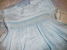 nwt Remember Nguyen blue smocked dress bloomer baby girl newborn  preemie  g