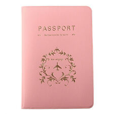 Fasion Pink Travel Utility Passport Cover Holder ID Card Case Protector Skin PVC