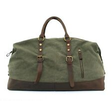 """22""""Men Large Leather Canvas Lightweight Luggage Bag Weekend Overnight Duffle HOT"""
