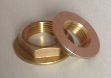 "New Pair of Brass Flanged Backnuts - Available in 1/2"" & 3/4"""
