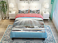 Landscape Pattern Bedding Set Twin Full Queen Duvet Cover Bed Sheet 2 Pillowcase