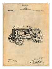 1919 Henry Ford Antique Tractor Patent Print Art Drawing Poster 18X24