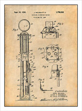 1925 J Nelson Gas Pump Patent Print Art Drawing Poster 18X24
