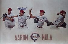 Philadelphia Phillies Aaron Nola Autographed Signed Photo Collage JSA PSA