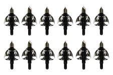 New Sporting Outdoor Black Broadheads Hunting Arrowhead Steel Fit Crossbow