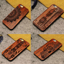 Natural Carved Wooden Wood Bamboo Pattern Hard Phone Case For iPhone 5 5s SE