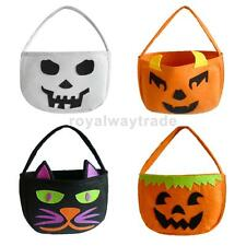 1 x Halloween Party Trick or Treat Bag Kids Loot Candy Cello Tote Handbag Pouch