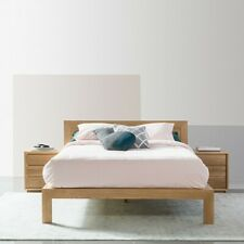Anya Queen Size Timber Bed Frame - Solid Oak Wood - 213x175cm