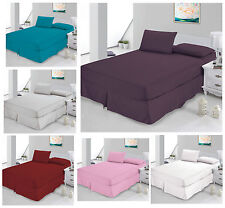 Luxury Non Iron Percale Fitted Bed Sheets - Single, Double, King & Super King