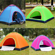 Camping Tent 1/2/3-4 Person Outdoor Waterproof Anti UV Oxford Hiking Beach Tent