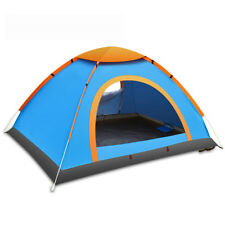 3-4 Person Pop Up Camping Tent Double Layer Outdoor Waterproof Hiking Foldable
