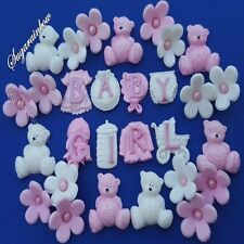 Edible sugar decorations baby shower christening nursery cake cupcake toppers