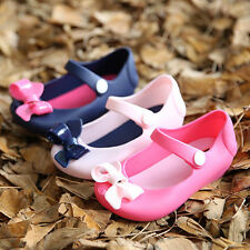 Baby Girls Kids Soft Sole Crib Shoes Bow Tie Ribbon Non-Slip Velcro Sandals Flat