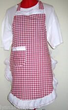 LADIES PERSONALISED GINGHAM APRON Made to fit all sizes Most colors