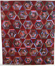 Free S/H STRING SPIDERWEB VINTAGE QUILT PATTERN PLAID SCRAP SCRAPPY STRIP PIECED
