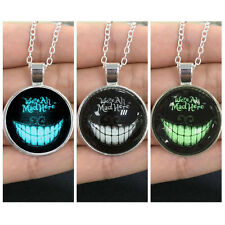 Cool Glow in the Dark Devil Smile Pendant Necklace Silver Chain Gothic New