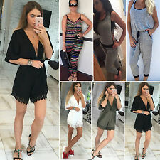 Summer Womens Sexy Slim Playsuit Party Jumpsuit Casual Bodysuit Jumper Sportwear