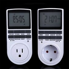 Digital LCD Plug-in Power Programmable Timer Switch US EU Plug 24h 7 Day 15A