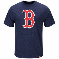 Boston Red Sox Majestic Navy Mental Metal Heather Baseball T-Shirt Tee