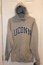 gray Connecticut / UConn Huskies hoodie / hooded stitched sweatshirt