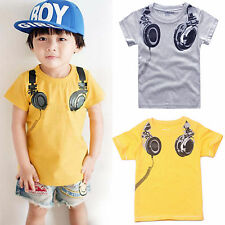 1-7Y Kids Baby Children Short Sleeve T shirts Boys Girls Casual Tops Tee Tshirt