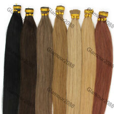 "Pre Bonded Stick I Tip Premium Grade Remy Human Hair Extensions Straight 16""100s"