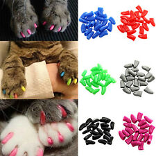 20x New Soft Rubber Pet Dog Cat Kitten Paw Claw Nail Caps Cover Shell Protector
