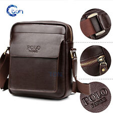 Men's Genuine Vintage Brown Leather Messenger Shoulder Laptop Bag Briefcase POLO