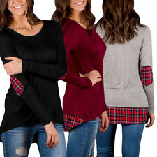 New Fashion Women Lady Casual Loose Tops Long Sleeve T-Shirt Blouse Plus Size LD
