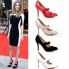 LADIES WEDDING BRIDAL WOMENS PROM PARTY HIGH HEEL COURT PUMPS SHOES SIZE