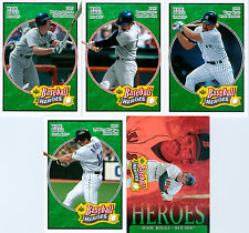 Lot of 5 Wade Boggs 2005 Upper Deck Baseball Heroes Emerald Trading Cards