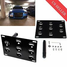 Bumper Tow Hook License Plate Mount Bracket Holder For Audi A4 A5 A7