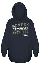 Denver Broncos NFL Womens Majestic Stadium Rally Pullover Hoodie Navy Plus Sizes