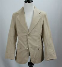 NWT Oscar de la Renta Boys Blazer Jacket Beige Stretch Cotton Blend MSRP $300