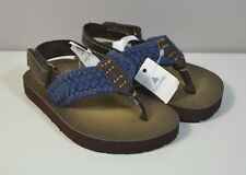 NWT BABY BOY BABYGAP BROWN VELCRO STRAP FLIP FLOP SANDALS SHOES TODDLER SZ 5