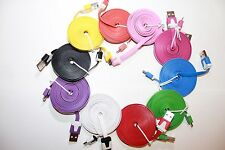6.5FT 2/M Flat Micro USB Data & Charge Cable USA SELLER!