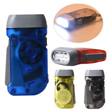 Hand Pressing Crank Emergency Camping LED Flashlight Torch Outdoor Light 4 Color