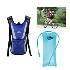 2L Water Bladder Bag+4L Hydration Pack Backpack Camelbak Pack Hiking Camping New