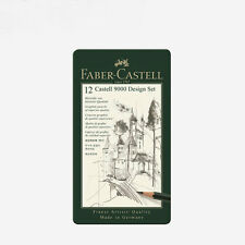 Faber Castell 12 Castell 9000 Design/Art set Graphite Pencil Tin Box 12Pcs