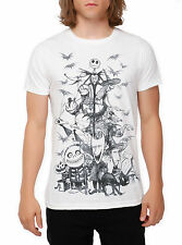 THE NIGHTMARE BEFORE CHRISTMAS JACK SKETCH TEE T-SHIRT UNISEX DISNEY TIM BURTON