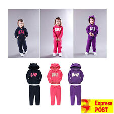 kids Baby Girls GAP 2pcs Fleece Tracksuit Outfit Hoodie and pants set size 9M-5Y